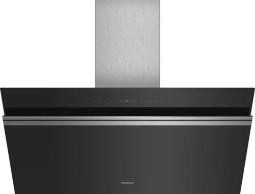 Siemens iQ700 LC91KWW60 - Hotte - hotte décorative - largeur : 90 cm - profondeur : 49.9 cm - evacuation & recyclage - noir