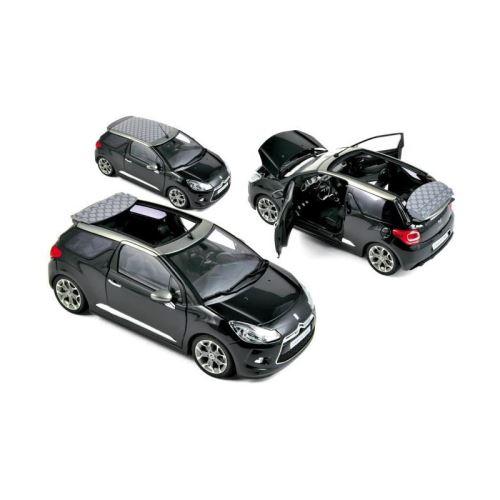 NOREV Voiture de collection 1:18 Citroën DS 3 Cabrio 2013 Noir perle