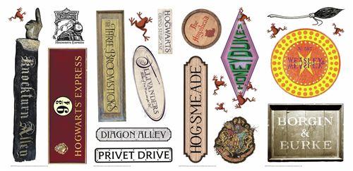 RoomMates stickers muraux vinyle Harry Potter 21 pièces