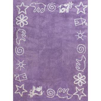 ARATEXTIL TAPIS POUR CHAMBRE ENFANT 100% Coton Violet- Divers motifs ...