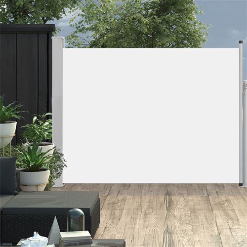 Auvent latéral rétractable de patio 170x500 cm Crème