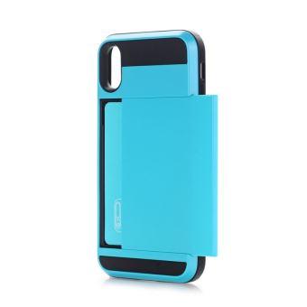 dd681d8140 Coque renforcée pour carte petite quantité recommandée avant le lancement iphone  x bleu x détachable tpu + pc housse de protection etui arrière avec fente  ...