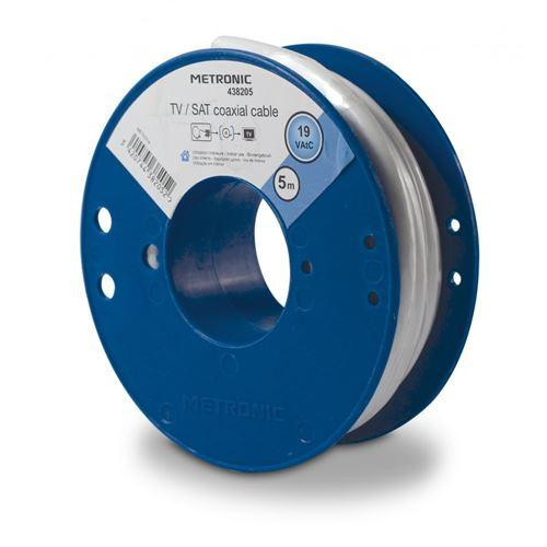 Metronic Câble coaxial - bobine de 5 m 438205