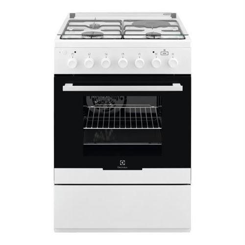 Electrolux EKM60900OW - Cuisinière - pose libre - largeur : 60 cm - profondeur : 60 cm - hauteur : 88.9 cm - avec système auto-nettoyant - blanc