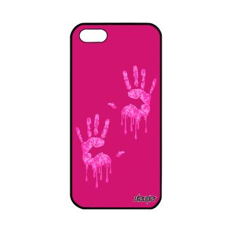 Coque iPhone 5 5S SE silicone main image personnalise fantaisie solide de Apple