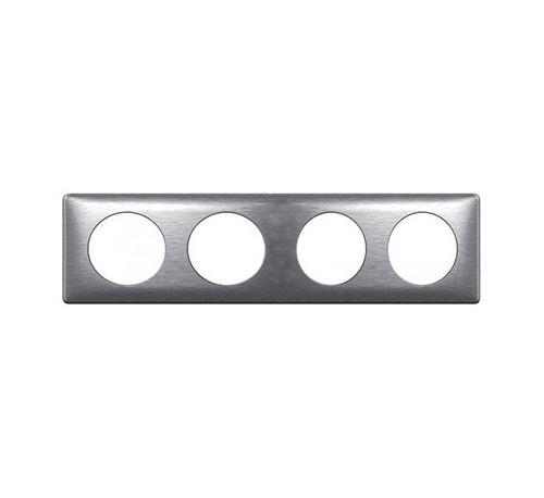 Plaque anodisée Céliane - Aluminium - Quadruple horizontale / verticale 71mm