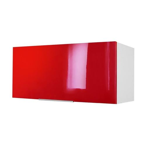 POP Caisson hotte 80 cm - Rouge Haute Brillance