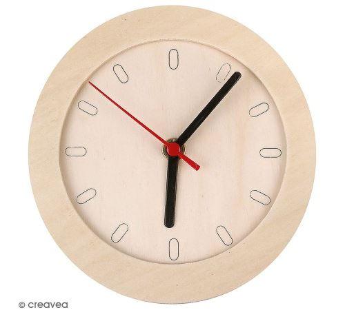 Horloge ronde à décorer - 15 cm