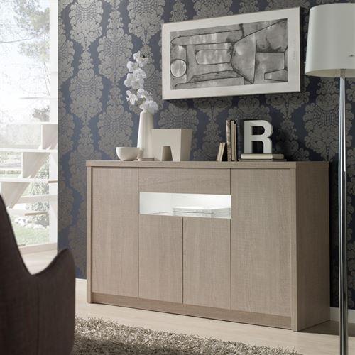 Buffet 4 portes 1 tiroir Chêne clair 180 cm - BOTEKIA