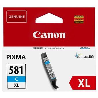 Canon CLI-581C XL Cyan cartouche d'encre - cartouches d'encre (Canon, CLI-581C XL, Cyan, PIXMA TS8152 PIXMA TS8151 PIXMA TR7550 PIXMA TS6151 PIXMA TS9155 PIXMA TS9150 PIXMA TS6150 PIXMA..., 8,3 ml)