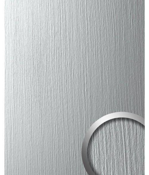 SILVER Panneau mural autoadhésif Aspect métal mat WallFace 12447 DECO Revêtement mural gris clair 2,60 m2