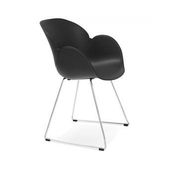 51 sur chaise design testa noire en matire plastique achat prix fnac - Chaise Design Plastique