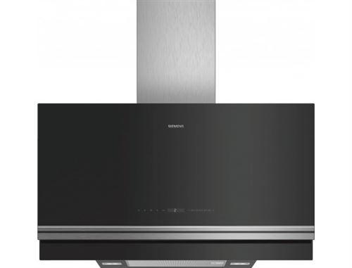 Siemens iQ700 LC97FVW60 - Hotte - hotte décorative - largeur : 90 cm - profondeur : 50 cm - evacuation & recyclage - noir