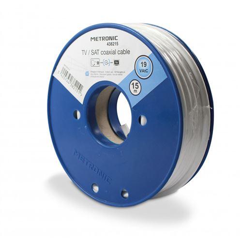 Metronic Câble coaxial - bobine de 15 m 438215