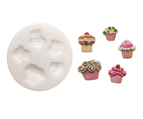 Moule silicone decors cup cakes slk222