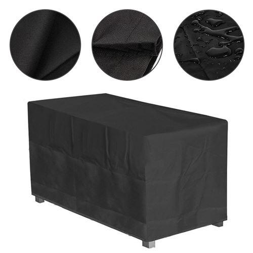 Housse de protection JEOBEST® 160x100x65cm Fait Tissu Oxford 420D pour table de jardin