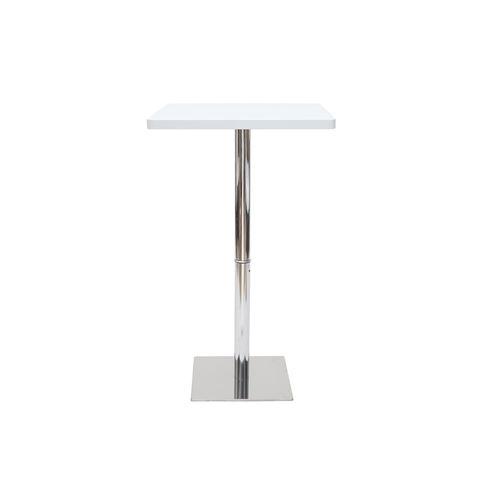 Table de bar carrée blanche JACK