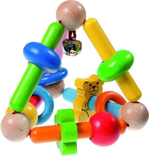 Walter pyramide de jouets à saisir en bois 13 cm multicolore
