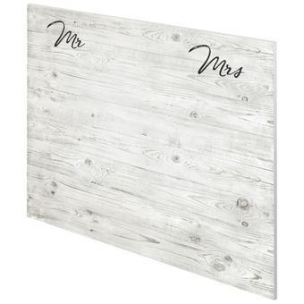 MR & MRS Tete de lit style classique effet bois blanchi - L 160 cm