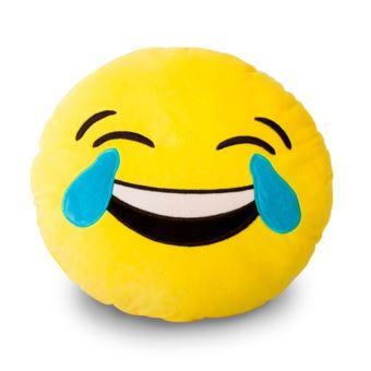 2 58 Sur Coussin Emoticone Smiley Lol Mdr Mort De Rire Jaune Achat Prix Fnac