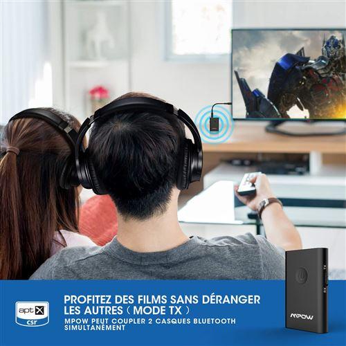 Mpow Transmetteur Bluetooth 4.2 Émetteur et Récepteur Adaptateur Bluetooth 2 en 1 Adaptateur Audio sans Fil Sortie Stéréo de 3,5 mm aptX Double