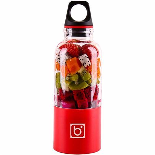 Juicer Blender Portable 500 Ml Électrique Rechargeable Avec USB Chargeur Câble Pour Fruits Légumes Rouge