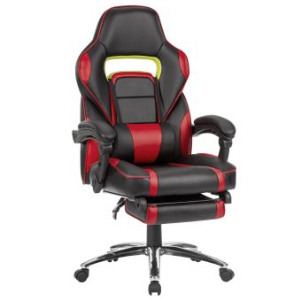 fauteuil gaming de bureau chaise langria en faux cuir rouge et noir achat prix fnac. Black Bedroom Furniture Sets. Home Design Ideas