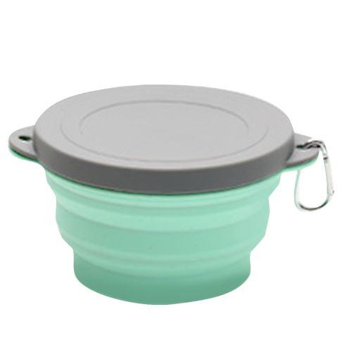 Pliant en silicone portable en plein air de pique-nique Bowl Bowl Creative Voyage Bowl_Kiliaadk1405