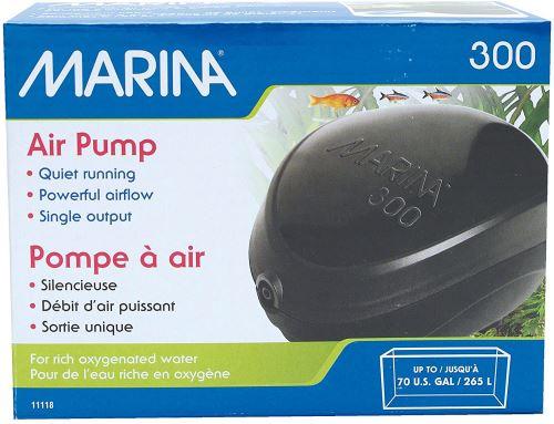Marina Pompe à Air Débit 125 L/H pour Aquarium jusqu'à 265 L