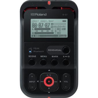 Noir Roland R-07 haute r/ésolution Portable Audio Recorder