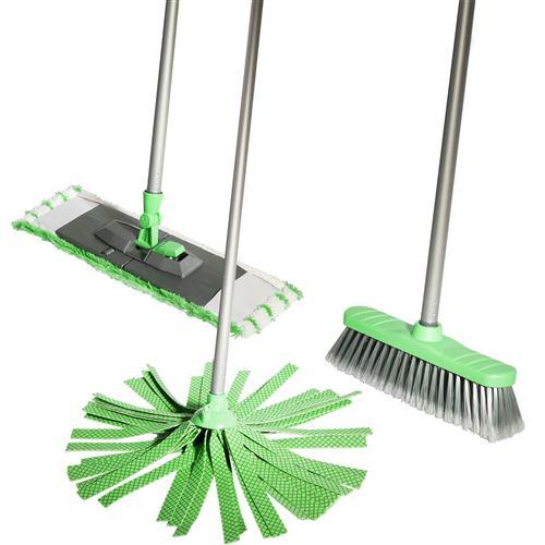 Lifetime Clean kit de nettoyage 120 cm vert 5 pièces