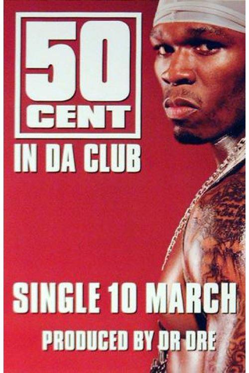 50 Cent Poster In Da Club 75x50 cm
