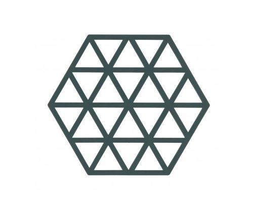 Dessous de Plat Design Triangles Silicone Vert Cactus