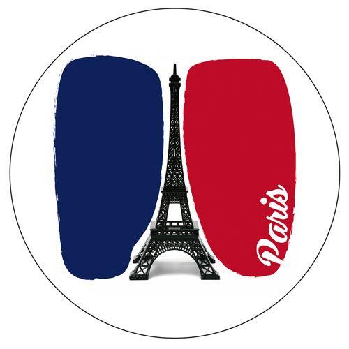 Set de 4 dessous de verres ronds Paris by Cbkreation