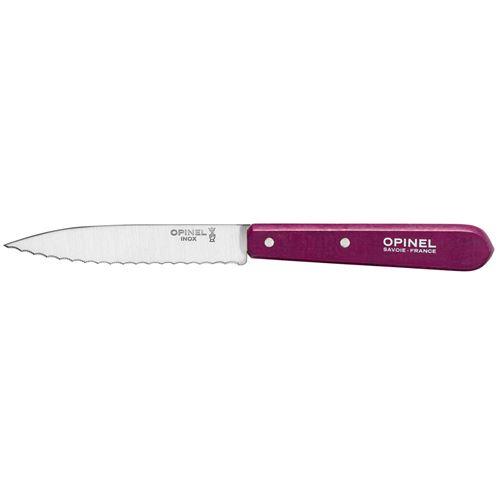 1 couteau office crante opinel n 113 violet aubergine lame 10 cm inox
