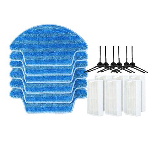 X6 Mop Cloth + x6 + x6 Brosse latérale Filtre pour Ecovacs CEN540 / CEN546 Aspirateur wedazano124