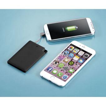 Carte Bancaire Sur Telephone.Batterie De Secours 2500 Mah Format Carte Bancaire Micro Usb