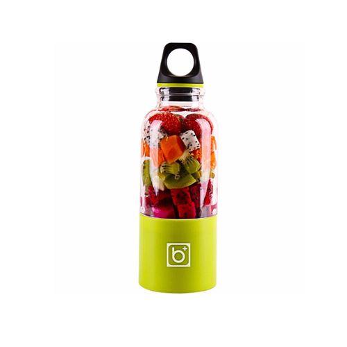 Juicer Blender Portable 500 Ml Électrique Rechargeable Avec USB Chargeur Câble Pour Fruits Légumes Vert Clair