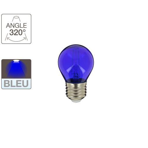 Ampoule LED P45 - cuLot E27 - éclairage bleu