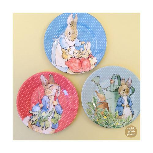 Lot de 3 assiettes dessert Beatrix Potter Petit Jour Paris Multicolore