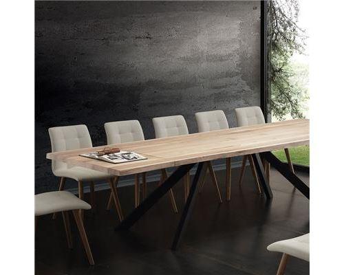 Table 300 L à ILONA cm extensible x P x massif H 75 100 manger bois sthrdCQ