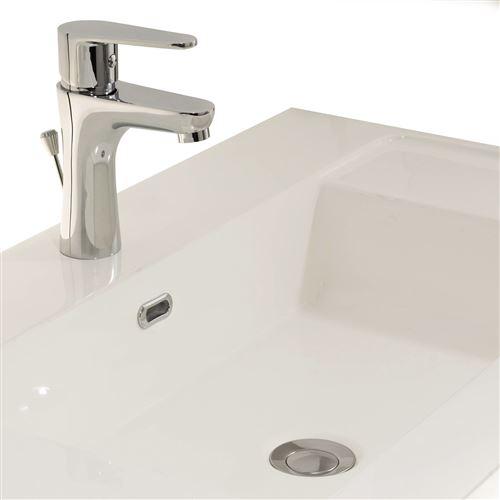 Robinet Mitigeur de lavabo chrome Design Aerateur Economie d eau