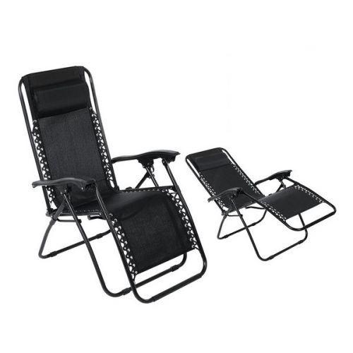 Chaise de plage (108 x 64 x 110 cm) Noir