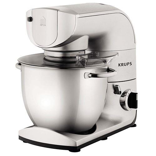 Krups ka402d Robot de cuisine, 5,5 L, 1200 W, avec accessoires, acier inoxydable