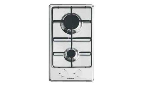 Glem GT32BK - Table de cuisson au gaz - 2 plaques de cuisson - Niche - largeur : 26.5 cm - profondeur : 48 cm - sans cadre - noir