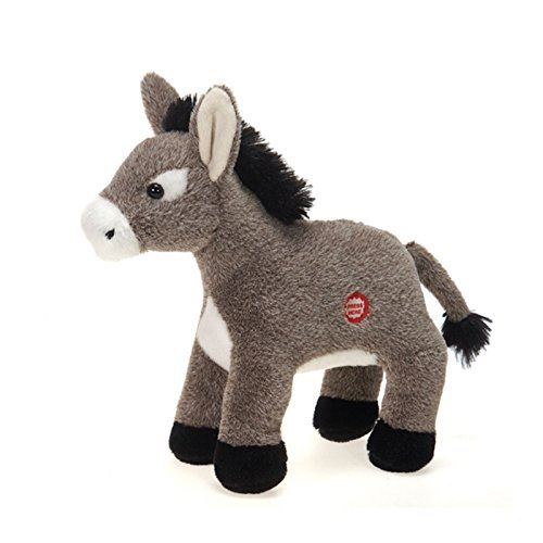 Dominic the Donkey with Sound Plush Stuffed Animal Toy by Fiesta Toys - 9.5