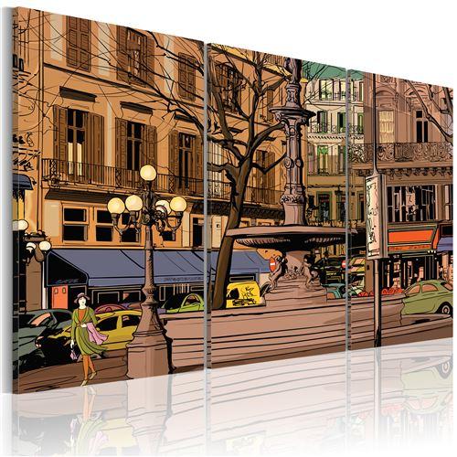 Tableau - Soirée calme à Paris - Artgeist - 90x60