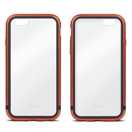 Coque Bumper Moshi iGlaze Luxe iPhone 6s aluminium cuivre entourage gel