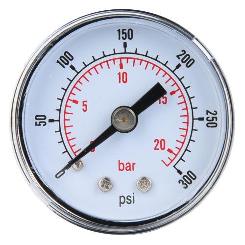 Manomètre Mécanique pour Air Huile Eau 1 / 8Inch Bspt Connexion Arrière 0-300Psi 0-20Bar