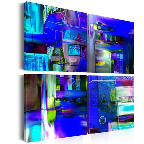 Tableau | Voie navigable de cobalt | 40x40 | Abstraction |
